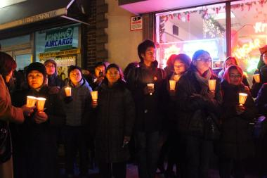 The Bayanihan Filipino Community Center, a program of Philippine Forum-New York, helped organize a candlelight vigil near its Woodside community center in November for victims of Typhoon Haiyan in the Philippines.