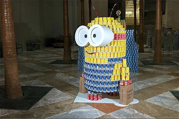 The annual food drive, featuring impressive sculptures made from cans, returns to Brookfield Place.