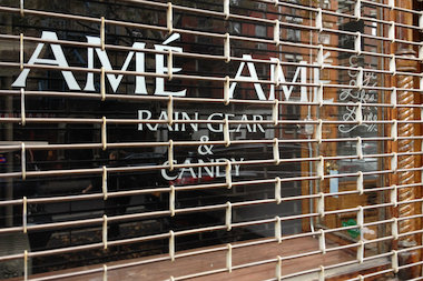 The East Village specialty rain gear and candy closed after two years.