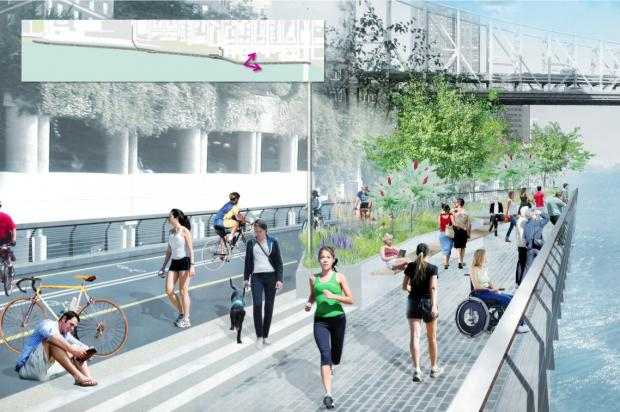 The NYCEDC released renderings of a new esplanade proposed for the East River waterfront.