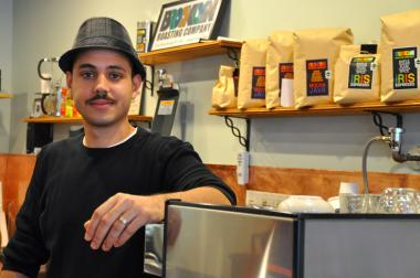 Ismanuel Diaz opened a café in the first floor of his family's house on Central Avenue.