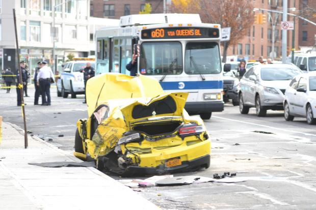 Two pedestrians were struck and killed Monday morning after a motorist lost control of his car and jumped a curb in Queens, police said.