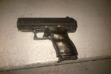 A man holding this gun was shot by an officer on November 16, 2013, after he tried to evade police, the NYPD said.