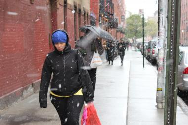 A low-pressure system moving in from Canada is expected to bring snow Friday.