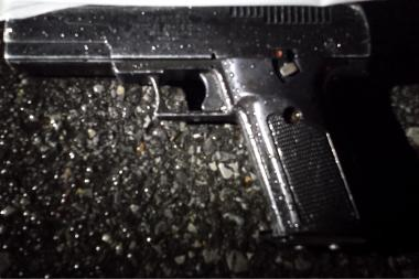 Police recovered a .45-caliber handgun a man used to shoot at them, the NYPD said.