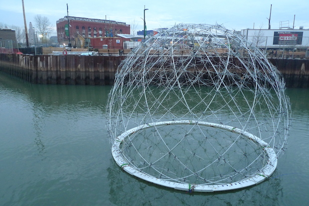 "Harvest Dome, a piece of ""performance architecture,"" will be on display for the next six months."