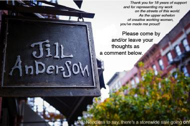 The Jill Anderson Boutique on East Ninth Street will close for good this Sunday.