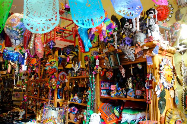 La Sirena in the East Village, which often helps customers with Day of the Dead celebrations, celebrates folk art year-round.