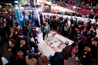 "The world's largest marshmallow sculpture was among the attractions at the ""Guinness World Records Unleashed"" Arena Nov. 6, 2013, an event that members of Community Board 5 thought had been cancelled."