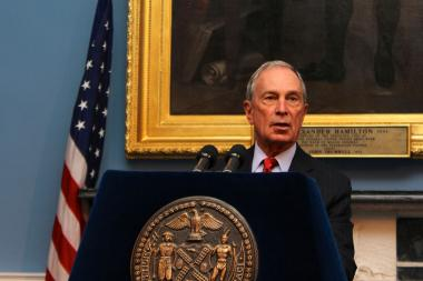 Mayor Michael Bloomberg is underwriting a rally against gun violence and march across the Brooklyn Bridge to City Hall.