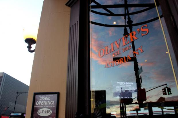 Oliver's at 37-19 Broadway offers 16 craft draft beers and upscale bar food like duck confit quesadillas.