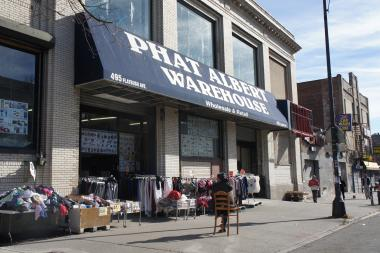 Phat Albert, a mammoth discount clothier and home supply store, will soon share space with a budget gym.
