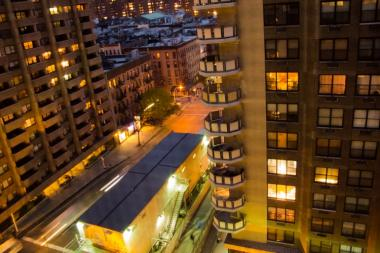 The view from an apartment at Yorkville Towers, located at 315 East 86th St.