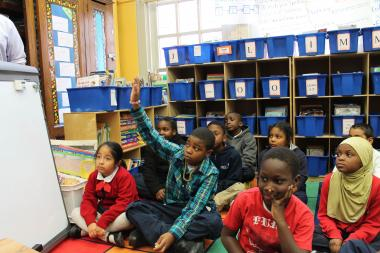 The city wants to move P.S. 241's students (pictured here) into P.S. 76's building next year.