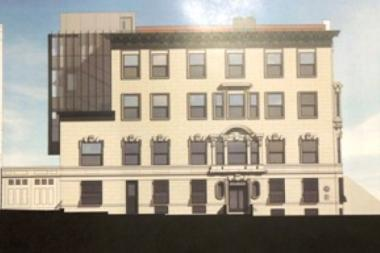A plan to build a three-story rear yard addition onto a historic townhouse designated as the home of the Rangel Center for Public Service at City College is stirring controversy because the plan was never presented to Community Board 9 before being approved Tuesday by the Landmarks Preservation Commission.