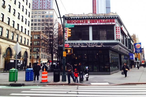 Community Board 2 members say Shake Shack is appropriating a public space for meetings and team-building exercises.