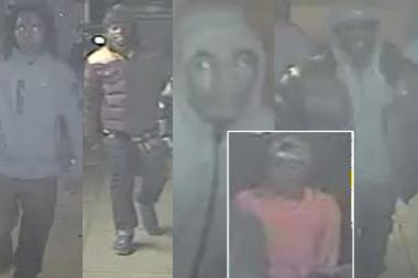 Police released surveillance images of men they are seeking in connection to a possible bias assault.