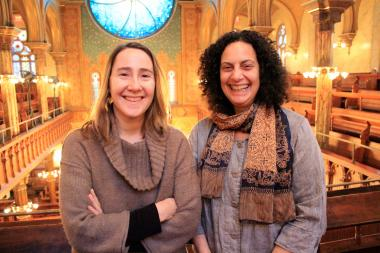 Amy Stein-Milford, deputy director of the Museum at Eldridge Street, and Hanna Griff-Sleven, director of cultural programs at the museum.