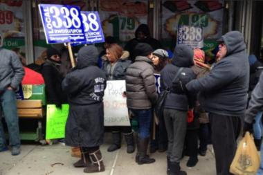 Union workers held a large rally last week and continued to protest outside the former Trade Fair.