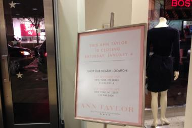 The only Queens location of Ann Taylor is closing on January 4.
