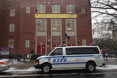 A girl was about a block from P.S. 139 in Brooklyn when a man grabbed her arm, police said.