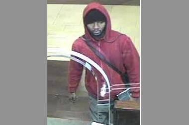 Police are looking for a 5-foot-10 male suspect who allegedly tried to rob a Chase bank.