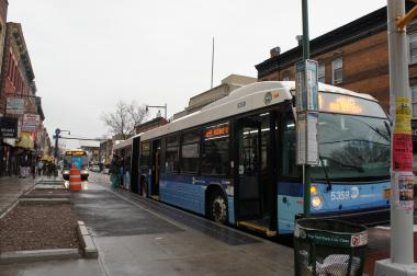 A B44 Select bus. The MTA will add new stops in Bed-Stuy in response to residents' complaints.