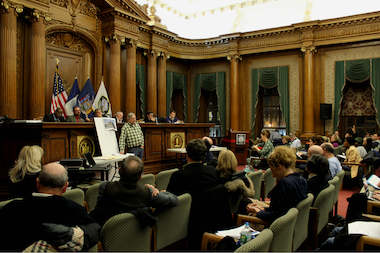 Community Board 6 at its full board meeting on Dec. 11 at Brooklyn Borough Hall.