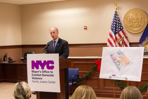 The city broke ground on the $3.1 million Family Justice Center in Staten Island on Thursday.