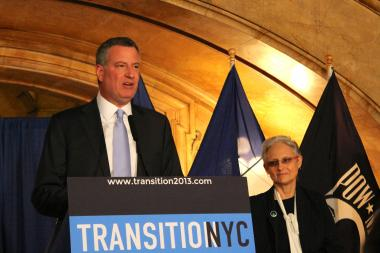 Mayor-elect Bill de Blasio announced his selection of Lilliam Barrios-Paoli as the Deputy Mayor for Health and Human Services on December 12, 2013.