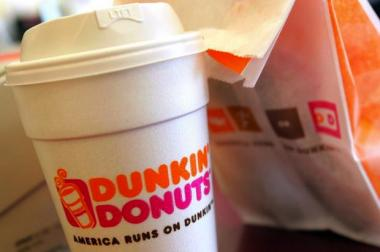 You can get free delivery for Dunkin' Donuts coffee and pastries this week.