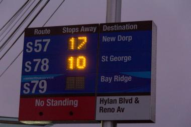 Councilman Steven Matteo announced he allocated $200,000 to install more countdown clocks at MTA bus stops in his district. The DOT first installed four of the clocks last year in Staten Island.