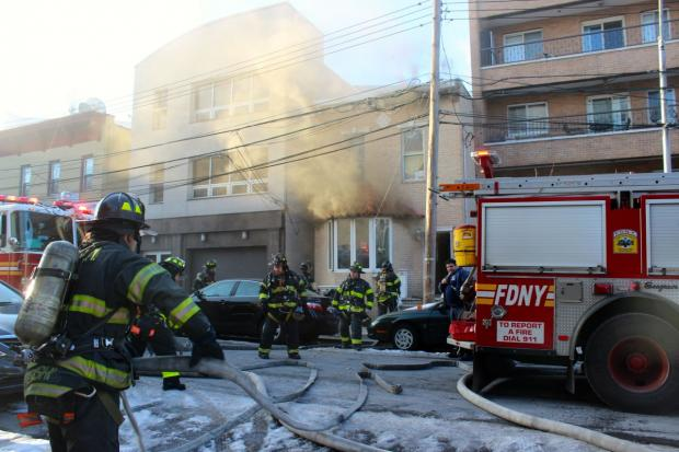 The FDNY responded to the blaze at 2:44 and had the fire under control by 3:23 p.m., a spokesman said.