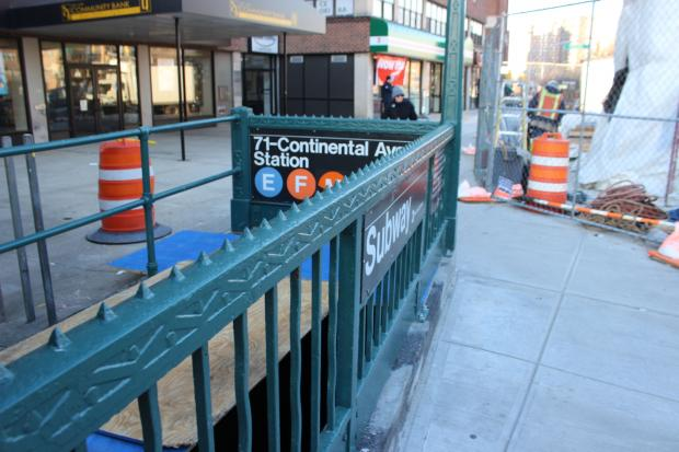 The project will add new staircases and elevators to the busy Queens station.