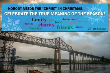 American Atheists posted a controversial billboard on the Goethals Bridge.