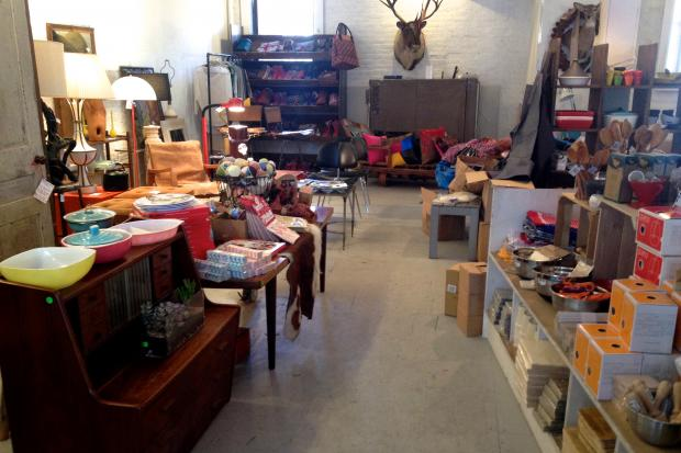 Greene Grape's former space has become a pop-up shop filled with custom made housewares from local Brooklyn designers.
