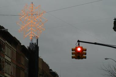 Manhattan Avenue is without holiday lights for the first time in decades, residents said.