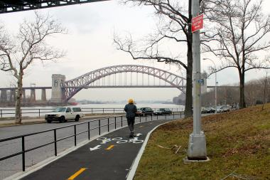 The Hell Gate Bridge, as seen from Astoria Park.