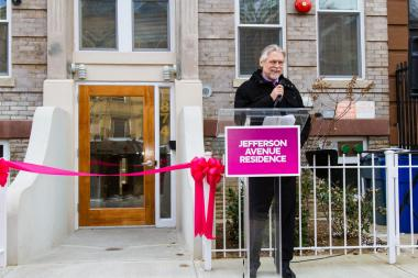Housing Works CEO Charles King unveils the non-profit's new residence in Bed-Stuy.