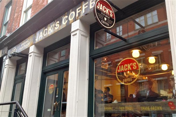 The popular Front Street coffee shop Jack's Stir Brew took more than a year to reopen in the South Street Seaport after Sandy because of storm damage.