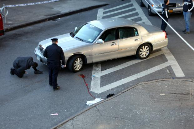 A livery cab struck an 81-year-old man in Elmhurst Thursday afternoon, police said.