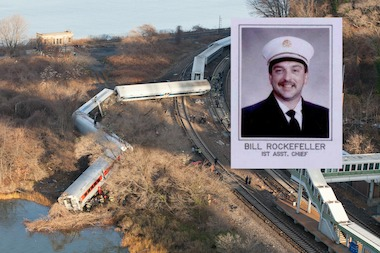 Motorman William Rockefeller, who  was also a volunteer fire chief, fell asleep at the helm of fatal Metro-North train that killed four people and injured scores of others.  Rockefeller sufferd from sleep apnea, sources said.