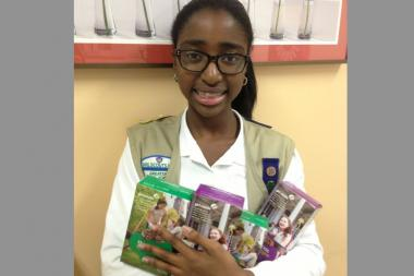 Najah Lorde's goal is to sell more than 2,000 boxes of cookies before mid-January 2014.