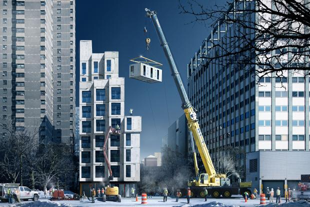 Prefab construction is all the rage as several high-profile high-design projects get underway.