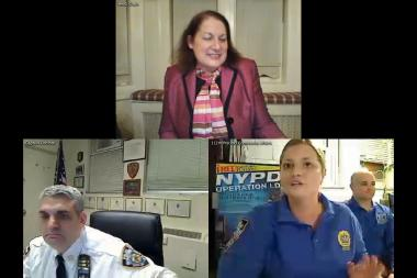 The 112th Precinct's first online meeting sought to keep more residents informed about matters important to the neighborhood, including crime prevention tips.