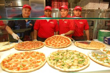 The pizza chain will donate 100 percent of the day's profits to a local charity.