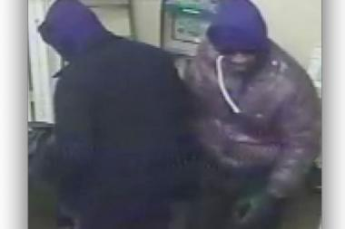 Police were looking for these two men accused of robbing a Lower Manhattan jewelry store over the weekend.