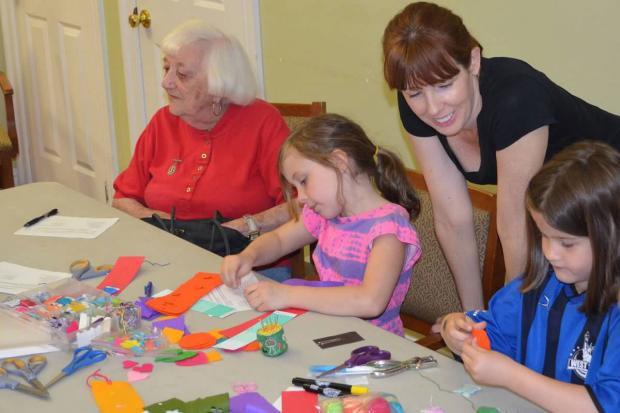 "The group ""Sew Far Sew Good"" strives to bring together kids and seniors on sewing projects."