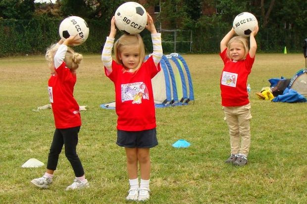 Kids as young as 18 months can attend Soccer Friends USA.