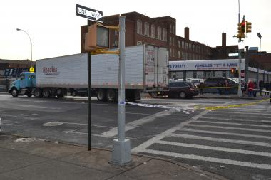 The scene of a deadly accident on Northern Boulevard in December.